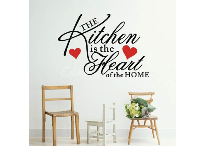 Large Decor Removable Kitchen Heart Home Wall Sticker Decal - 2