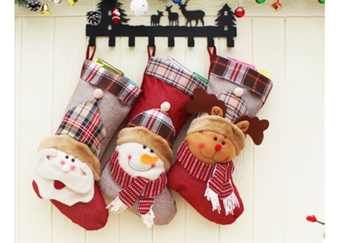 Llama Christmas Stocking.Buy Large Decorative 3d Christmas Stocking Santa Snowman