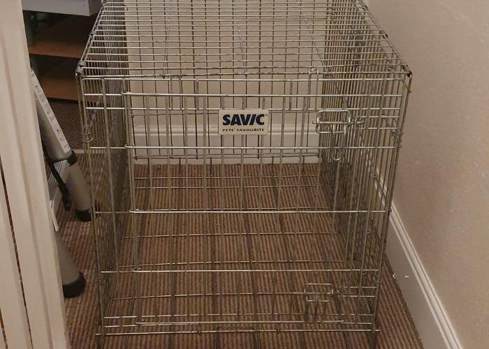 Large Metal Dog Crate - 1