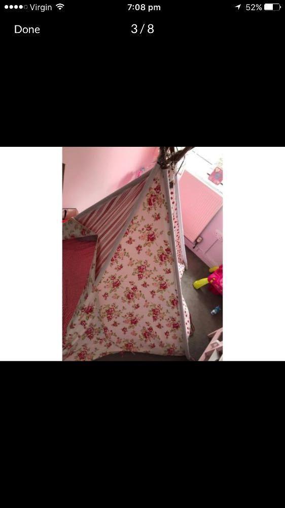 Large pink floral teepee - 2