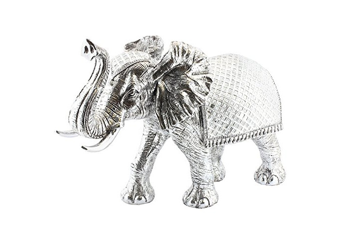Large Siler Art Ceremonial Elephant Decorative Ornament Figurine 70x48cm - 1