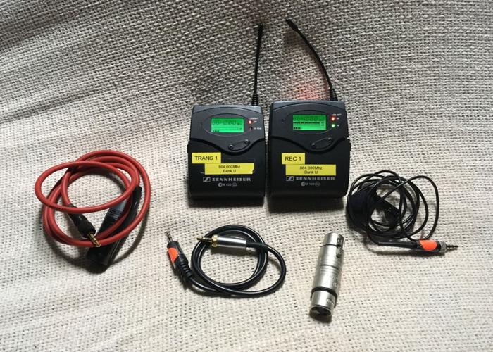 Lavalier (tie-clip) (no1) Sennheiser EW 100 G2 Radio Microphones (Range E) - 1