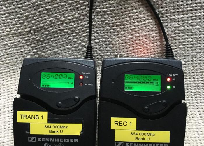 Lavalier (tie-clip) (no1) Sennheiser EW 100 G2 Radio Microphones (Range E) - 2