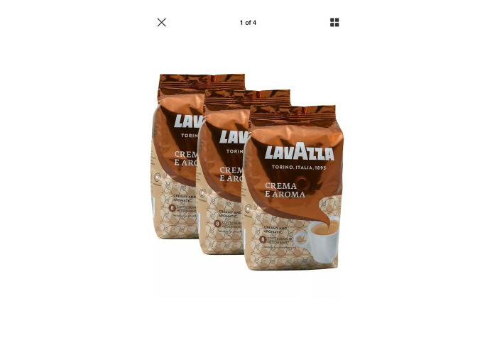 Lavazza Crema e Aroma Coffee Beans 1Kg (Pack of 3)Italian Coffee Rich Full body - 1