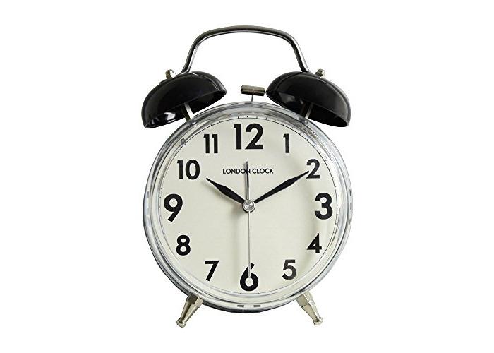 LC Twin Bell Alarm Clock - Black. - 1