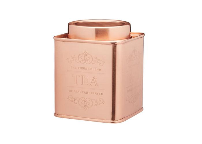 Le Xpress Copper Coffee, Tea & Sugar Set Of 3 Storage Tins - 2