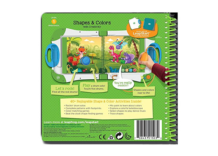 LeapFrog 21503 LeapStart Nursery Shapes/Colours and Creative Expression Activity Book - 2