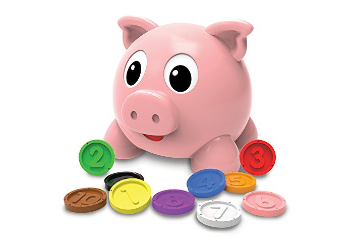"""Learning Journey The 208441 """"Learn with Me Numbers and Colors Pig E Bank - 1"""
