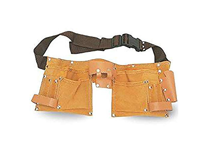 Leather builders Tool belt with 11 pockets 2 hammer holding loops - 1