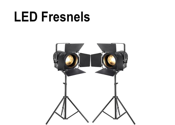 LED Fresnels x2: Studio and Location Lighting kit - 1