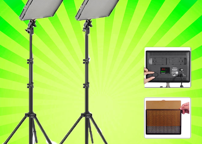LED Lighting Kit: Aputure Amaran 528 (2-Light/Stand - 1
