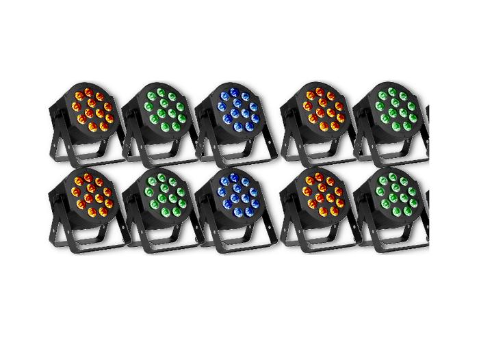LED Par Uplighters 5 Pairs - 1