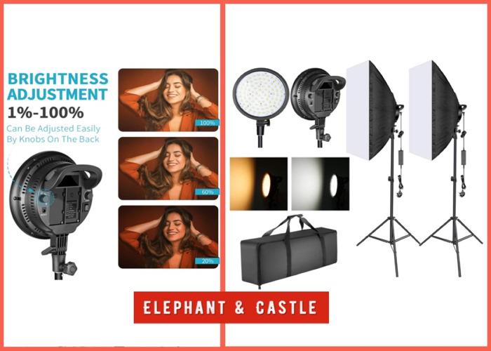 LED softbox (Bi-colour) Kit with stands - 1