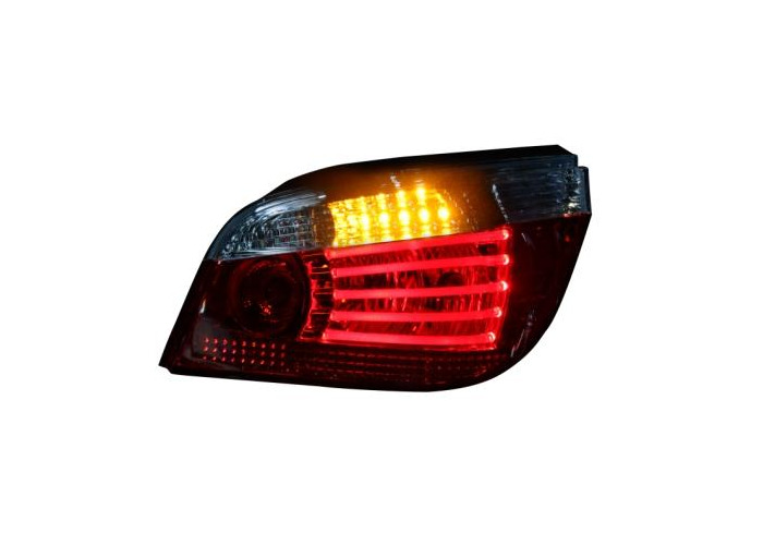 LED-Back Rear Tail Lights Lamps For BMW E60 03-08 LED-Indicator Red/Clear - 2