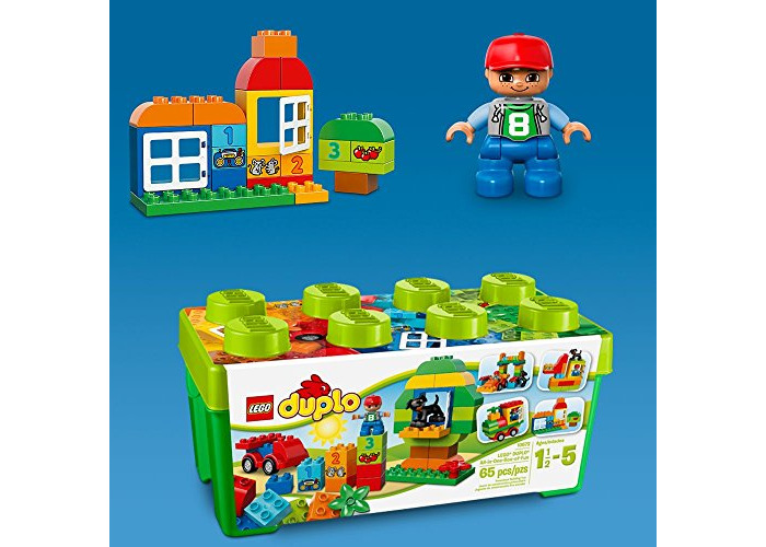 LEGO 10572 DUPLO My First All in One Box of Fun Brick Set, Easy Toy Storage, Preschool Toys for Kids 1,5-5 - 2