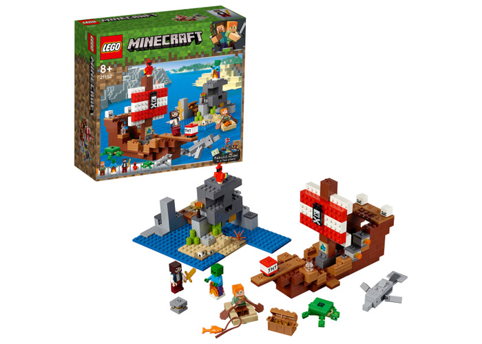 LEGO 21152 Minecraft The Pirate Ship Adventure Building Kit, Colourful - 2