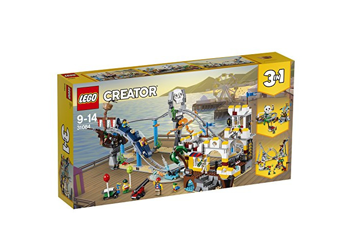 LEGO 31084 Creator Pirate Roller Coaster Toy,3 in 1 Model, Fairground Building Sets for Kids - 1