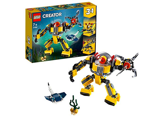 LEGO 31090 Creator 3-in-1 Underwater Robot Building Kit, Colourful - 1