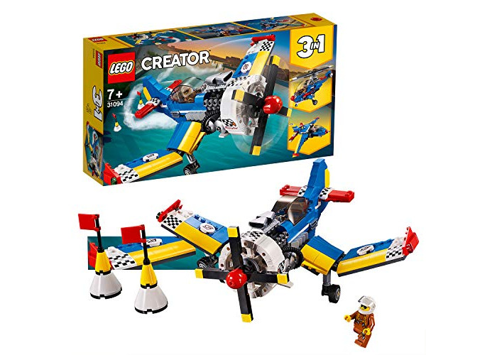 LEGO 31094 Creator 3-in-1 Race Plane Building Kit, Colourful - 1
