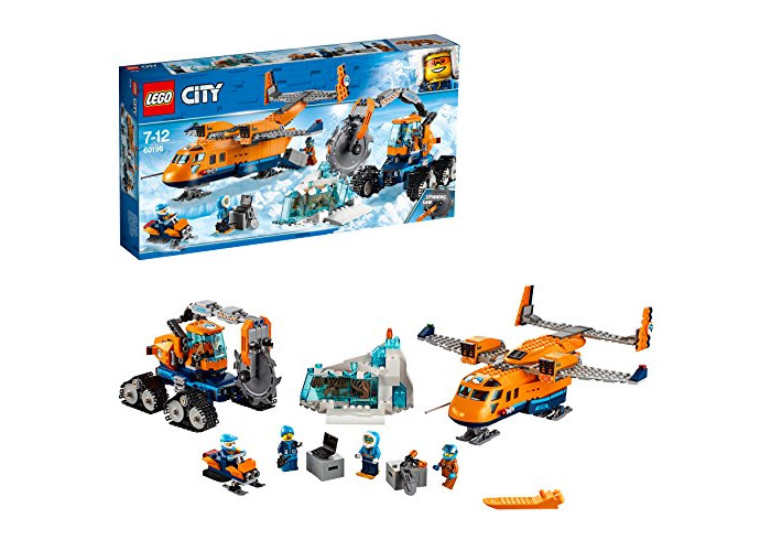 LEGO 60196 City Artic Expedition Toy Airplane, Air Transport Explorer Vehicles, Construction Building Toys for Kids - 1