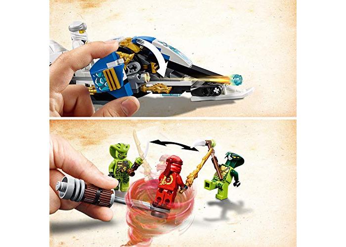 LEGO 70667 Ninjago Legacy Kai's Blade Cycle and Zane's Snowmobile Building Kit, Colourful - 2