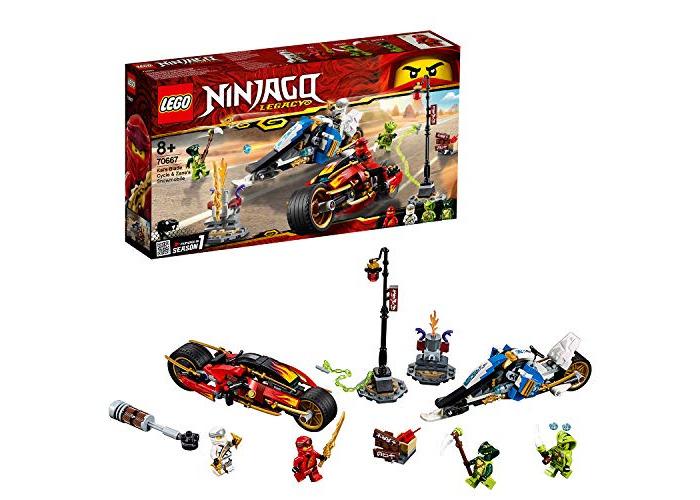 LEGO 70667 Ninjago Legacy Kai's Blade Cycle and Zane's Snowmobile Building Kit, Colourful - 1