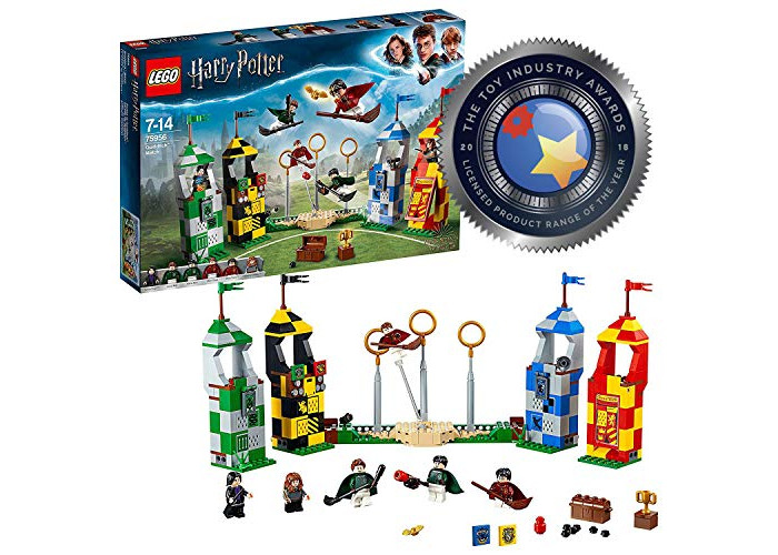 LEGO 75956 Harry Potter Quidditch Match Building Set, Gryffindor Slytherin Ravenclaw and Hufflepuff Towers, Harry Potter Toy Gifts - 1