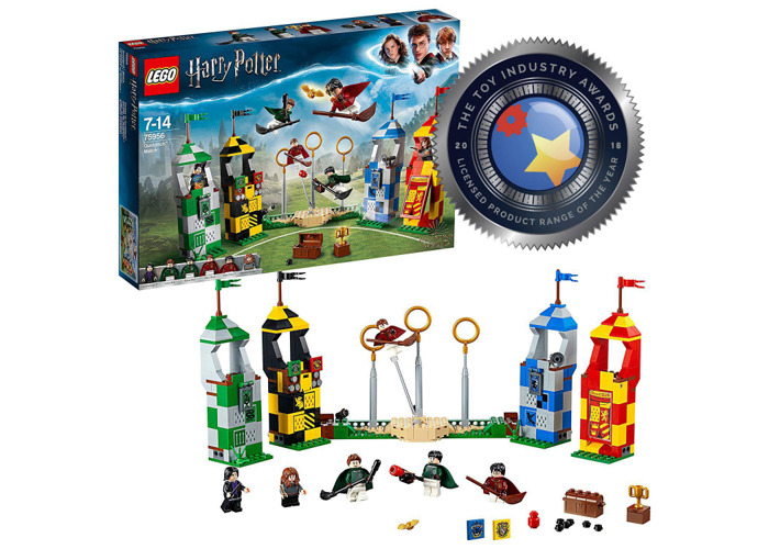 LEGO 75956 Harry Potter Quidditch Match Building Set, Gryffindor Slytherin Ravenclaw and Hufflepuff Towers, Harry Potter Toy Gifts - 2