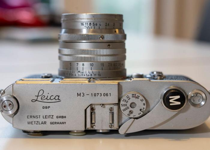 Leica M3 1963 film camera body and 50mm/F1.5 lens - 2