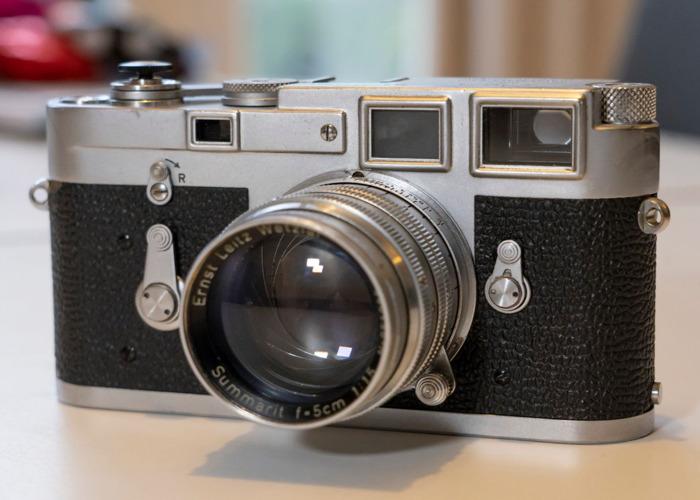 Leica M3 1963 film camera body and 50mm/F1.5 lens - 1