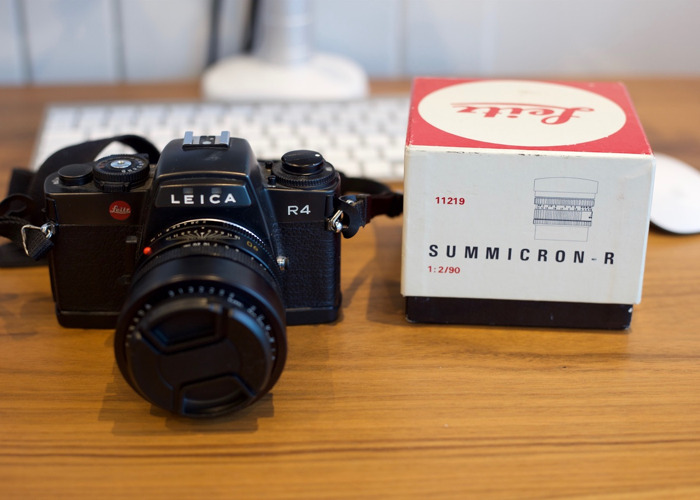 Leica R4 Camera with Summicron R 1:2/90 Lens - 1