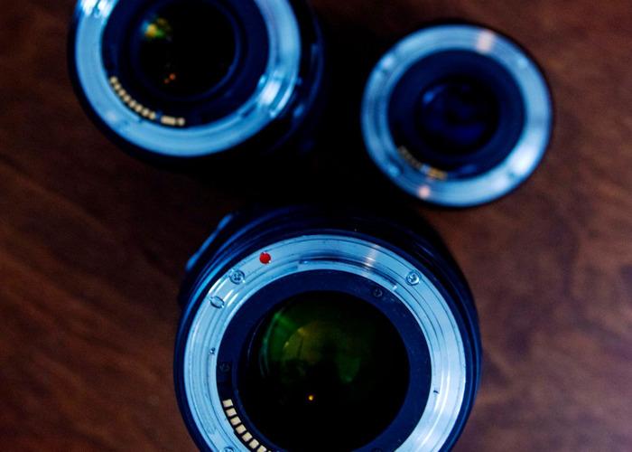 Lens Kit Sigma 18-35 Art, Canon 50mm, Sigma 70-200mm f2.8 - 1