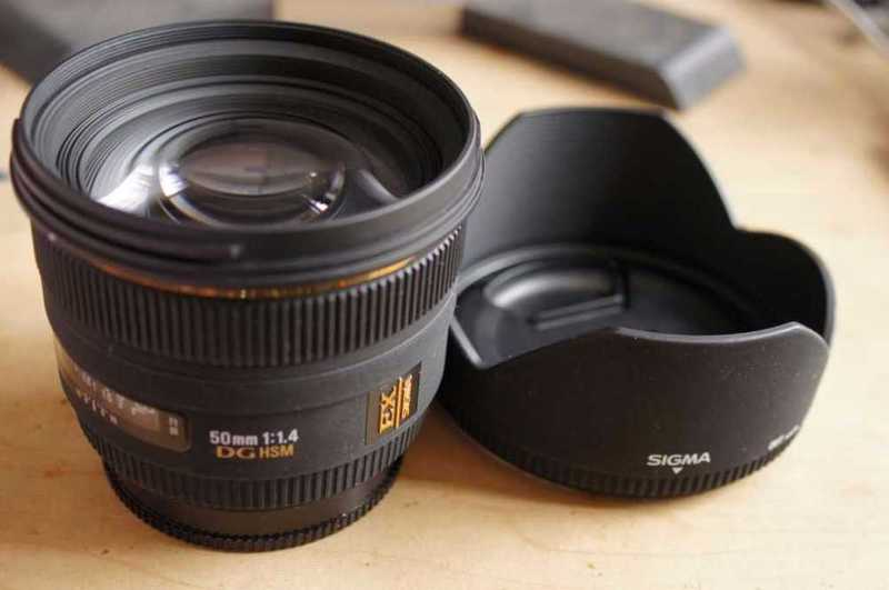 Lens: Sigma 50mm f/1.4 EX DG for Canon - 1
