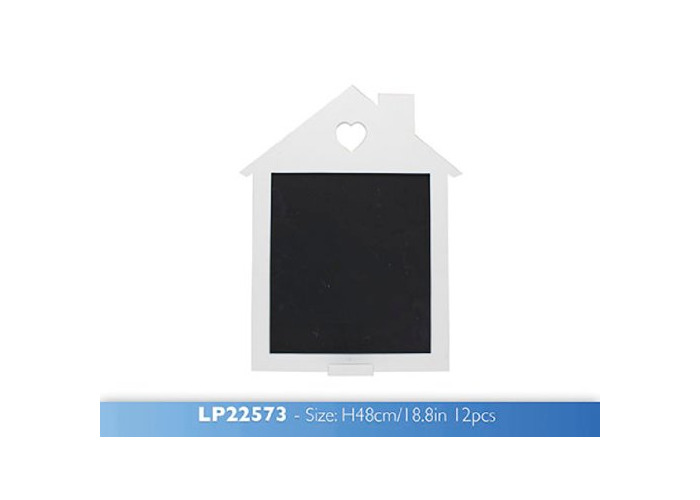 Lesser and Pavey 48 cm Large Wooden House Chalk Board, White - 1