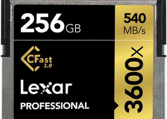Lexar 256GB Professional 3600x CFast 2.0 Memory Card - 1