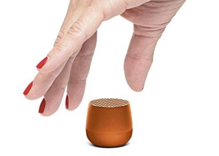 Lexon Mino Portable Mini Bluetooth Speaker - Red - 1