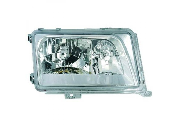LHD Crystal Headlights Pair Clear Chrome H4 H1 For Mercedes 200-300E W124 85-95 - 2