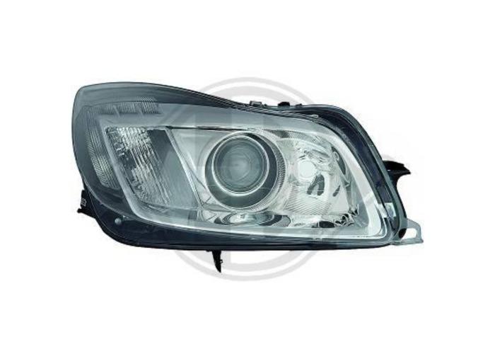 LHD Design Headlight Pair LED lightbar DRL Clear Chrome For Vauxhall Insignia - 1