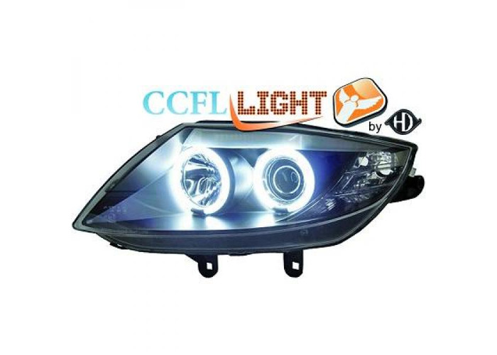 LHD OS NS CCFL Projector Headlights Pair Clear Black For BMW Z4 Roadster Coupe - 2