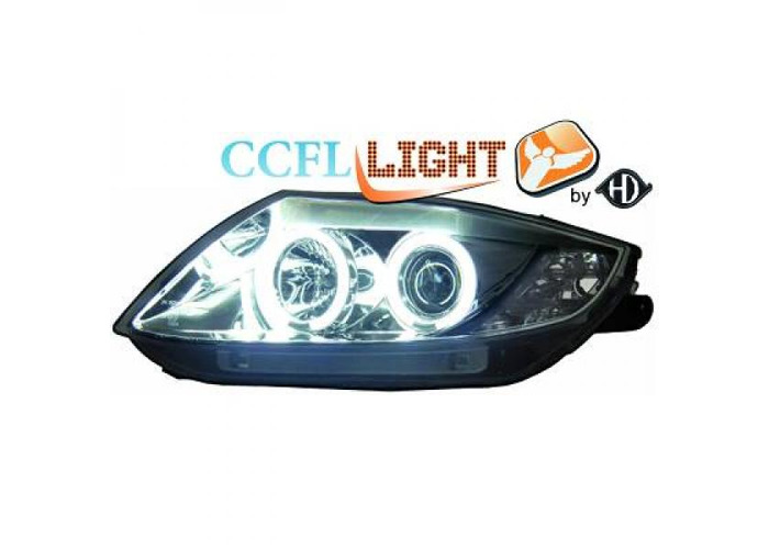 LHD OS NS CCFL Projector Headlights Pair Clear Chrome For BMW Z4 Roadster Coupe - 2