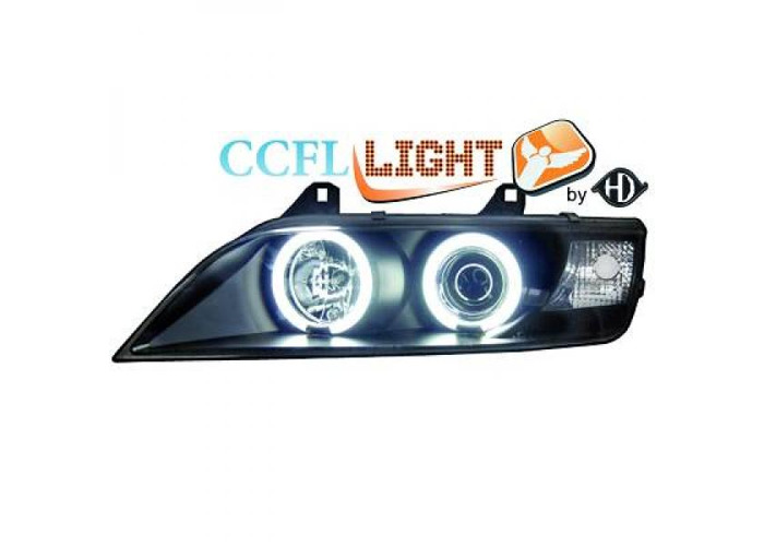 LHD Projector CCFL Headlights Pair Clear Black For BMW Z3 Roadster Coupe 95-02 - 1