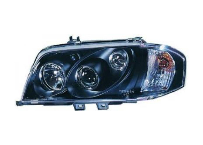 LHD Projector Headlights Pair Clear Black For Mercedes-Benz C180-280 W202 93-00 - 1