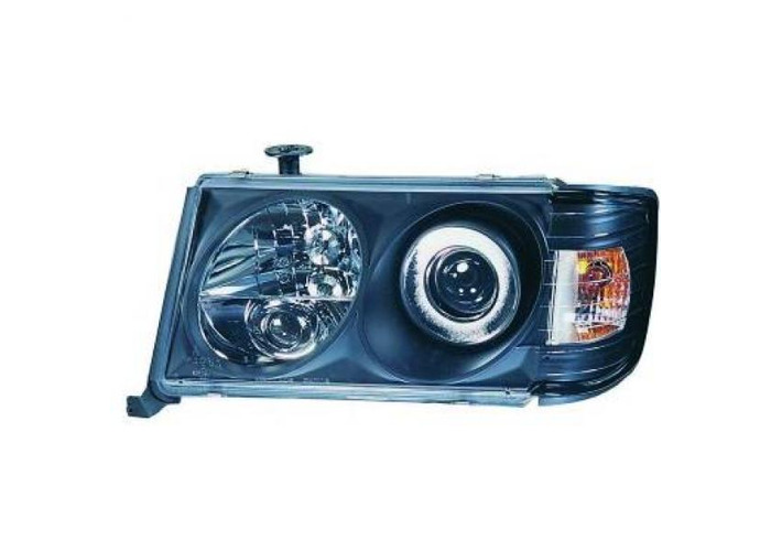 LHD Projector Headlights Pair Clear For Mercedes-Benz 200-300E W124 85-95 - 1