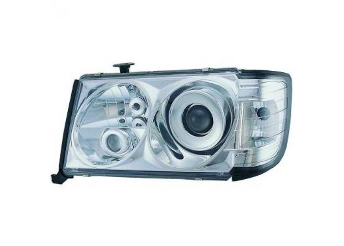 LHD Projector Headlights Pair Clear H1 H1 H3 For Mercedes 200-300E W124 85-95 - 2