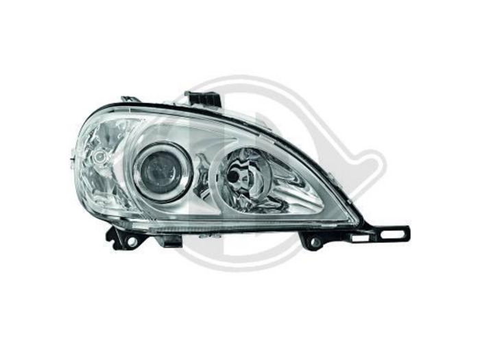 LHD Projector Headlights Pair LED Dragon Clear Chrome For Mercedes M CLass 98-05 - 1