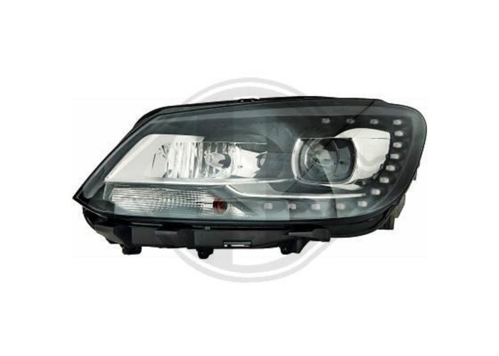 LHD Projector LED DRL Headlights Headlamp Pair Clear Black For VW Touran 10-On - 1