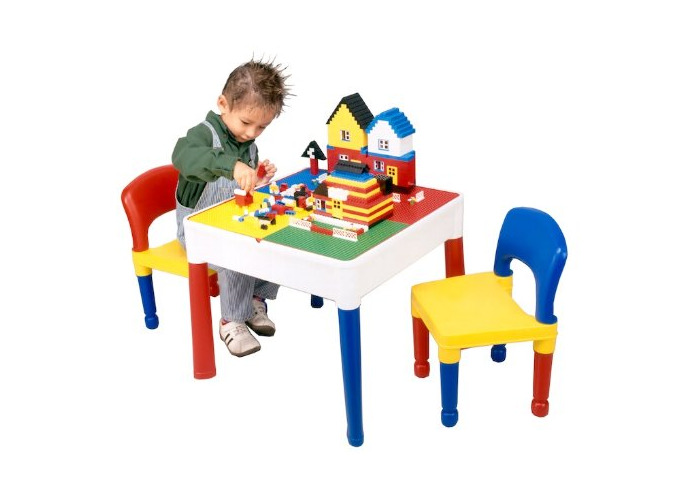 Liberty House LH698 5 in 1 Activity Table & Chairs with Writing Top/Lego/Sand/Water/Storage - 1