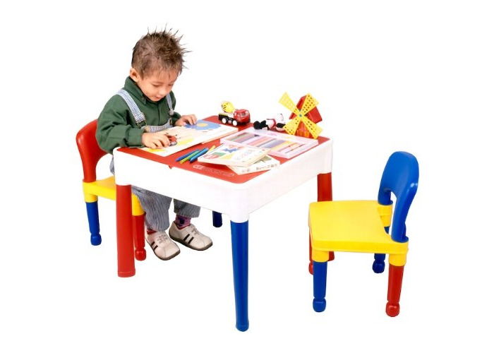 Liberty House LH698 5 in 1 Activity Table & Chairs with Writing Top/Lego/Sand/Water/Storage - 2