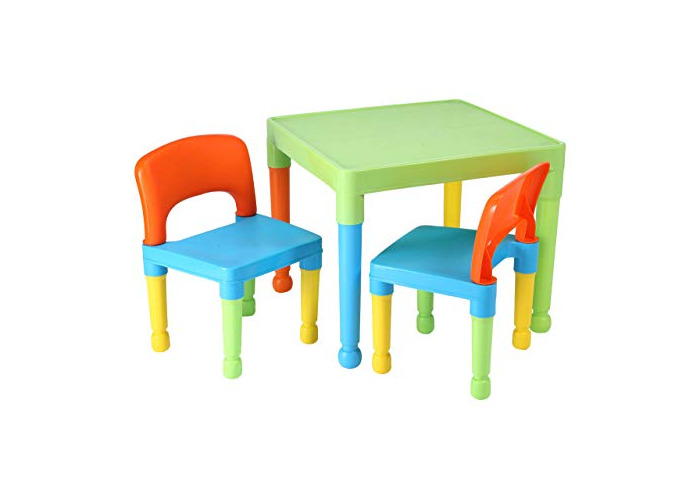 Liberty House Toys Children's Multi-Coloured Table & 2 Chairs Set, Multicoloured, 51x51x43.5 cm - 1