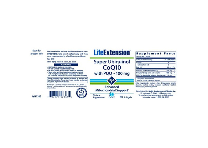 Life Extension Super Ubiquinol CoQ10 with BioPQQ, Non-GMO, 100mg, 30 Softgels - 2